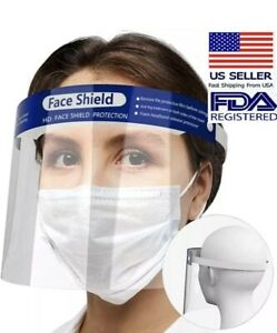 10-Pack NEW Face Shield Reusable Washable Protection Mask Full Cover Anti-Splash