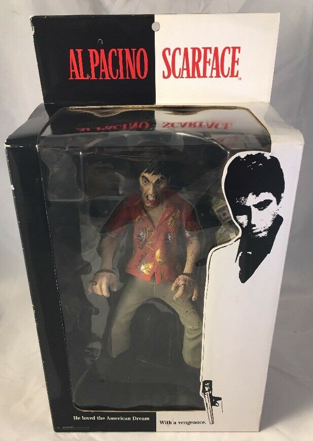 2004 Al Pacino Pacino Pacino Scarface The Runner Angry Face Bloody Variant Figure Unopened fb4230