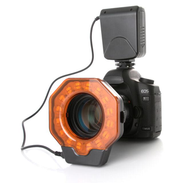 Macro LED Ring Flash Light XT-103C + 8-Rings for Nikon Canon Pentax DSLR Camera