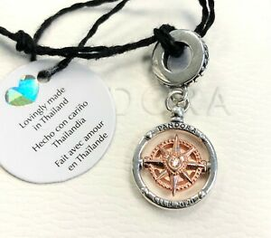 Details about Pandora Club 2020 Compass Dangle Charm, Rose Gold #788590C01  +FREE Gift Box +Tag