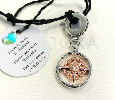 Pandora Club 2020 Compass Dangle Charm, Rose Gold #788590C01 +FREE Gift Box  +Tag   eBay