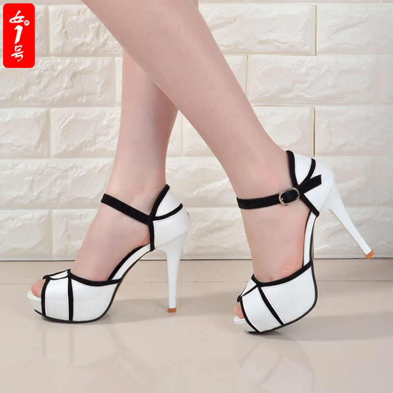 Womens High Heels Platform Stiletto  HP7 Belt Buckle Peep Toe Shoes Sandals HP7  429a31
