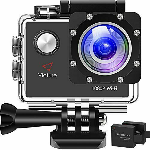 Victure AC400 Action Camera, 1080P WiFi Sports Cam, 30M Waterproof... 1080p 30m ac400 action sports victure wifi