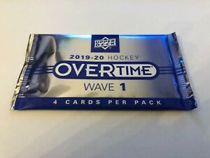 2019-2020-Upper-Deck-Overtime-Hockey-Factory-Sealed-Booster-1-Pack-Rare