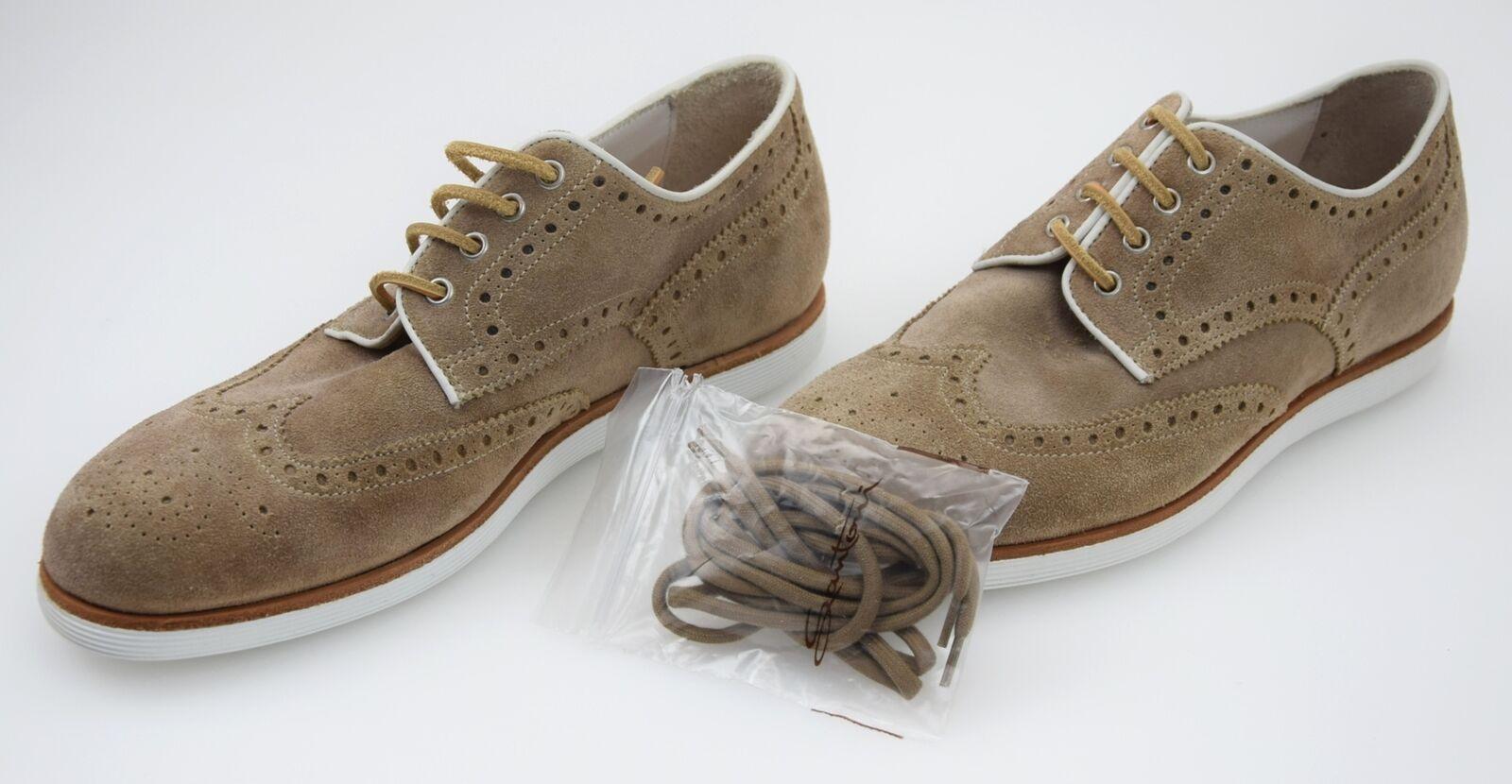 SANTONI MAN BUSINESS DERBY CLASSIC FORMAL DRESS DRESS DRESS schuhe SUEDE MBSD12096BIANRNYC55 1b9d64