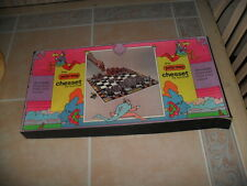 RARE Vintage 1971 PETER MAX CHESSET Pop Art Chess Set by Kontrell COMPLETE