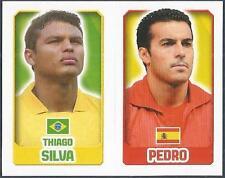 TOPPS ENGLAND 2014- #038-087-BRAZIL-SILVA-SPAIN-PEDRO