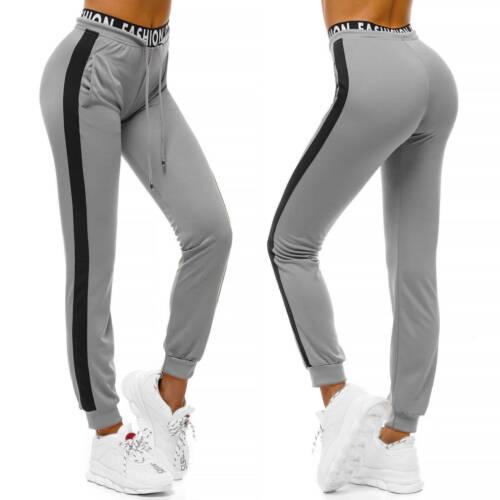 Trainingshose Sport Jogging Jogger Fitness Freizeit Hose Unifarben Damen OZONEE