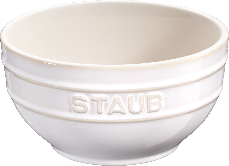 STAUB céramique Ensemble de 6 Bol céréales à dessert à mélanger, rond ivoire