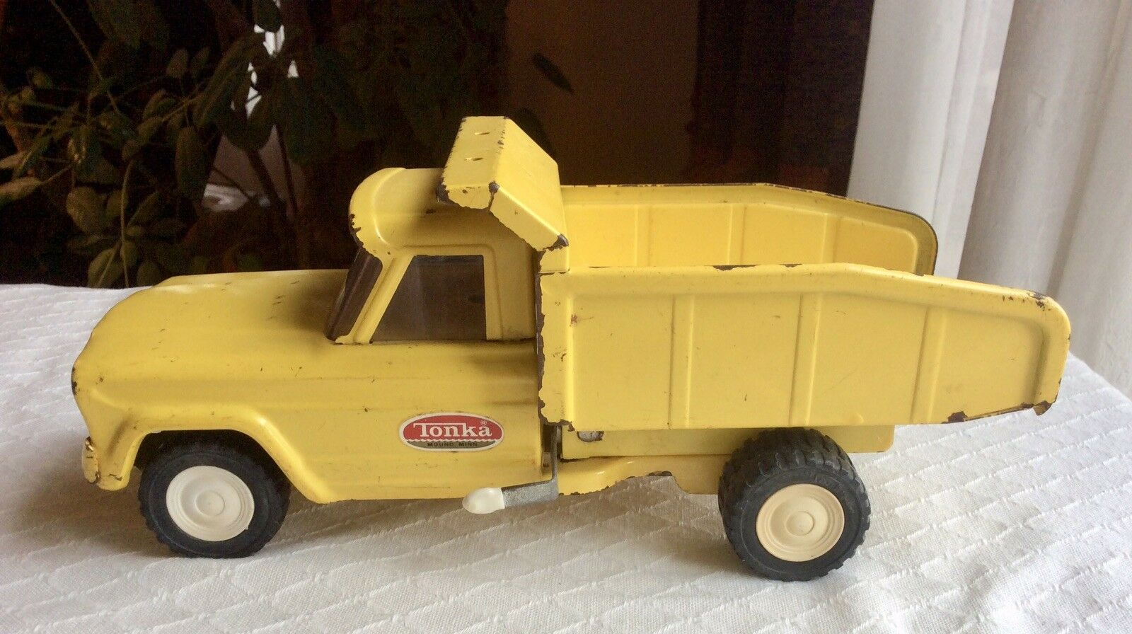 Vintage original Tonka Toys Pressed Steel hydraulique camion benne