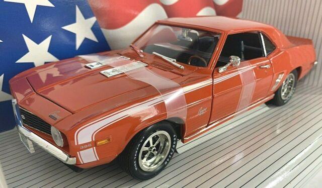 #7456 American Muscle Hugger Orange 1969 Camaro SS396  Die Cast 1:18
