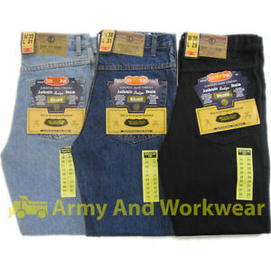 Aztec-Mens-Heavy-Duty-Tough-Regular-Fit-Straight-Jeans-Quality-Hard-Wearing-NEW
