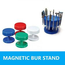 Magnetic Round Dental Lab Bur Block Holder Stand In White Blue Green Red 1pc