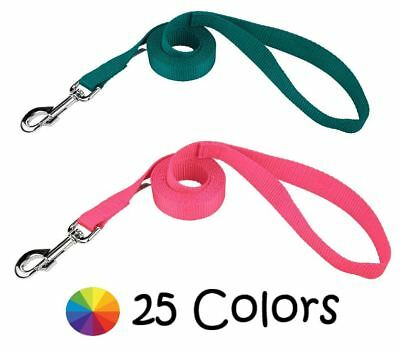 Embroidered Nylon Dog Leash, Harmon Mae Pups, 25 Colors, 8 Sizes Lead Puppy