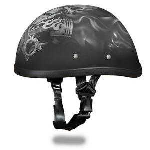deeeefaf869 Daytona Helmets Skull Cap EAGLE- W  PISTONS SKULL Motorcycle Helmet ...