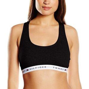 f37f4cf505ef Image is loading Tommy-Hilfiger-Women-Iconic-Cotton-Bralette-Racer-Back-