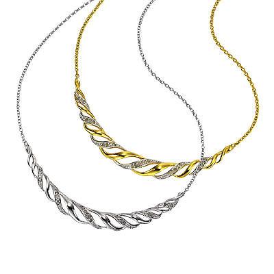 Diamonds by Ellen K. 925 Sterling Silber Collier Kette natürlicher Diamant Damen