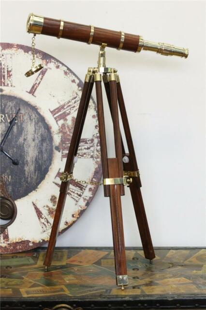 Display BRASS Tripod Table Working Telescope Nautical Home Office Decor RRP $399