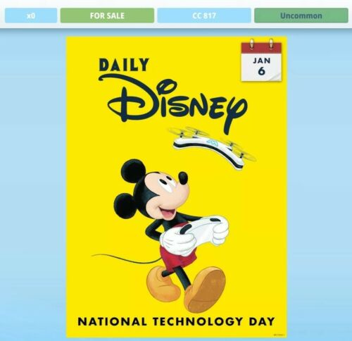 Daily Disney 2020 January 6 Topps Disney Collect National Technology Day