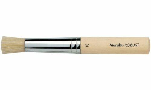 Marabu Stupfpinsel Robust rund Gr. 6 Künstlerpinsel Pinsel Schulpinsel Pinsel
