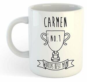 Carmen - Monde Meilleure Maman Trophy Tasse - Pour Cadeau De Fête Des Mères , Twmkhhjg-07234333-871492501