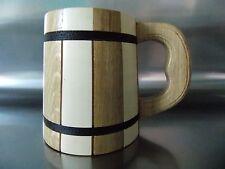 Unique handmade gift oak wooden beer mug.600ml(20oz)