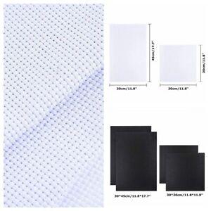 3Pcs-White-Black-11-Count-Cross-Stitch-Cloth-Aida-Fabric-Canvas-11CT-30cm-45cm