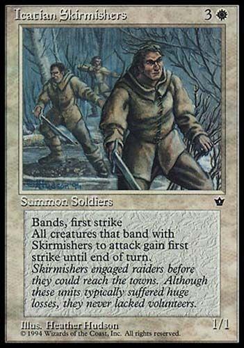 1x Icatian Skirmishers Fallen Empires MtG Magic White Rare 1 x1 Card Cards