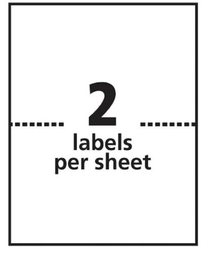 """975 Supply 2up Address Labels Fluorescent Green 100 Sheets 8.5/"""" x 5.5/"""""""