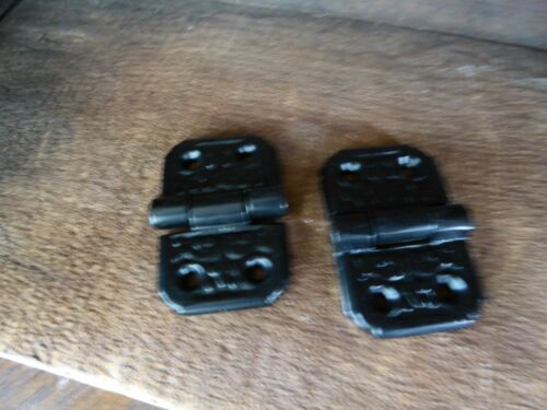 Set of 2 White or Black Metal Door Ornate Small HINGE Decorative DIY Hardware