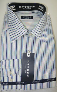 Camicia-uomo-classica-bianca-riga-blu-celeste-manica-lunga-art-01