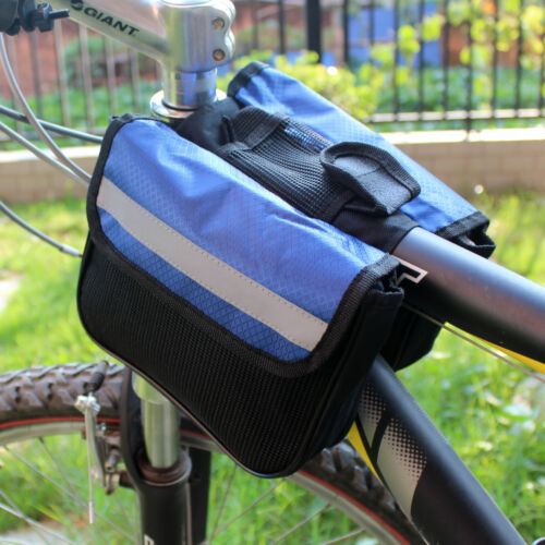 2018 Cycling MTB Bike Bicycle Frame Pannier Front Tube Double-Saddle Bags 2-size
