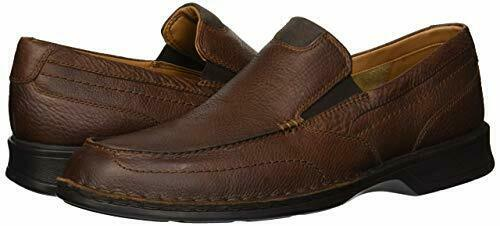 Clarks Men/'s Northam Step Tobacco Leather Casual Shoes 26138405