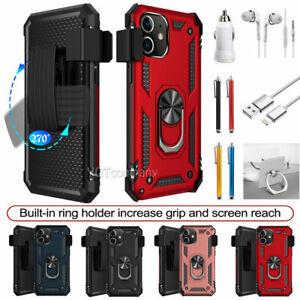 For iPhone 6/6S/7/8/Plus/X/XR/XS/11/12/Pro/Max/SE 2020 Ring Case Cover With Clip
