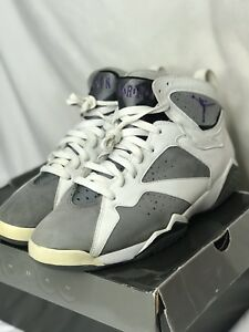 9ddd1ec473bb AIR JORDAN 7 (VII) RETRO – WHITE   VARSITY PURPLE – FLINT GREY 2006 ...