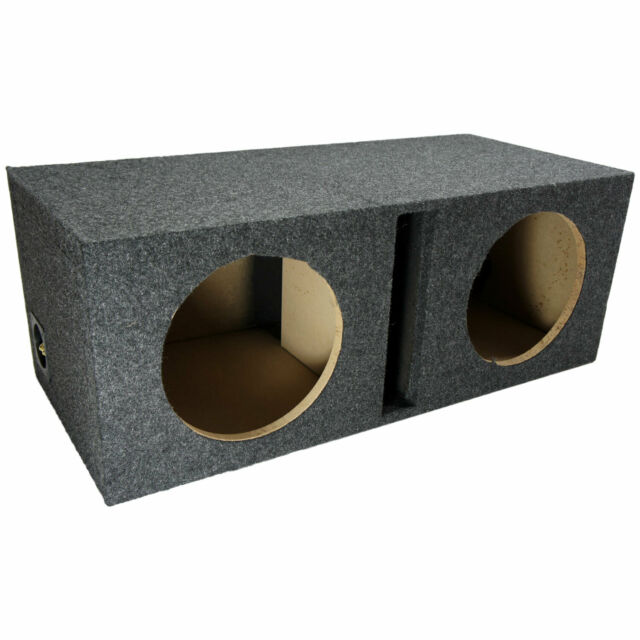"Car Audio Dual 8"" Vented Subwoofer Stereo Sub Box Ported Enclosure Speaker"
