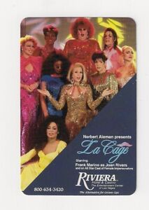 deck playing cards from Riviera Casino & Hotel, La Cage, Female Impersonators