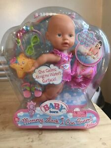 Rare Zapf Creations Baby Born Mommy Look I Can Swim Doll