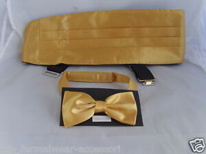 YELLOW Cummerbund and Bow Tie Set/> P/&P 2UK/>1st Class-Over 50 Colours in our SHOP