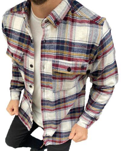 Flanell Hemd Flanellhemd Holzfäller Hemd Baumwolle Kariert Arbeitshemd Herren