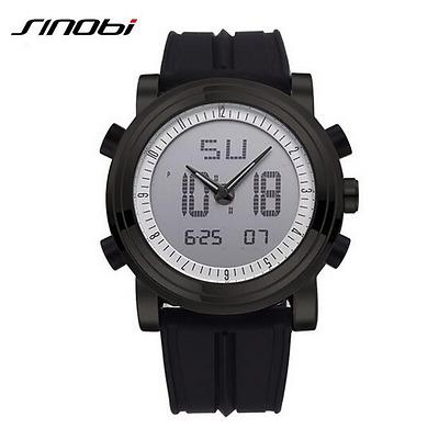 SINOBI Men's Sports Quartz Watch Wristwatch Man Military Watches Digital Pointer