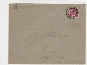 Germany 1895 Stamps Cover to Essen Oldenburg Hamburg Cancel Ref 23279