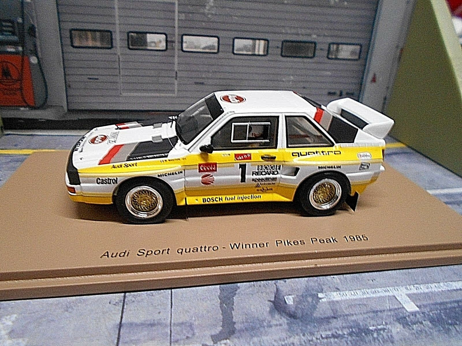 AUDI SPORT QUATTRO s1 1985 WINNER Pikes Peak RALLY  1 Mouton Spark Resin 1 43