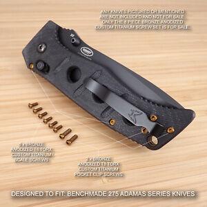Details about Benchmade 275 Adamas 8 Piece BRONZE Anodized Titanium Screw  Set - NO KNIFE