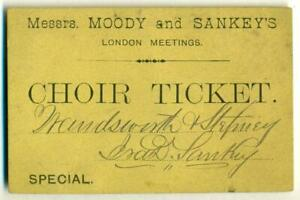 c-1875-IRA-D-SANKEY-AUTOGRAPH-LONDON-WANDSWORTH-amp-STEPNEY-SIGNED-REVIVAL-TICKET