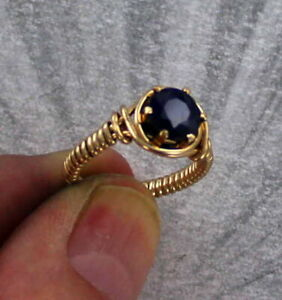 Sapphire-Gemstone-Ring-in-14kt-Rolled-Gold-Wire-Size-5-to-15