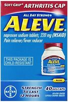 2 Pack - Aleve Arthritis Soft Grip Arthritis Cap, 40 Gelcaps Each on sale