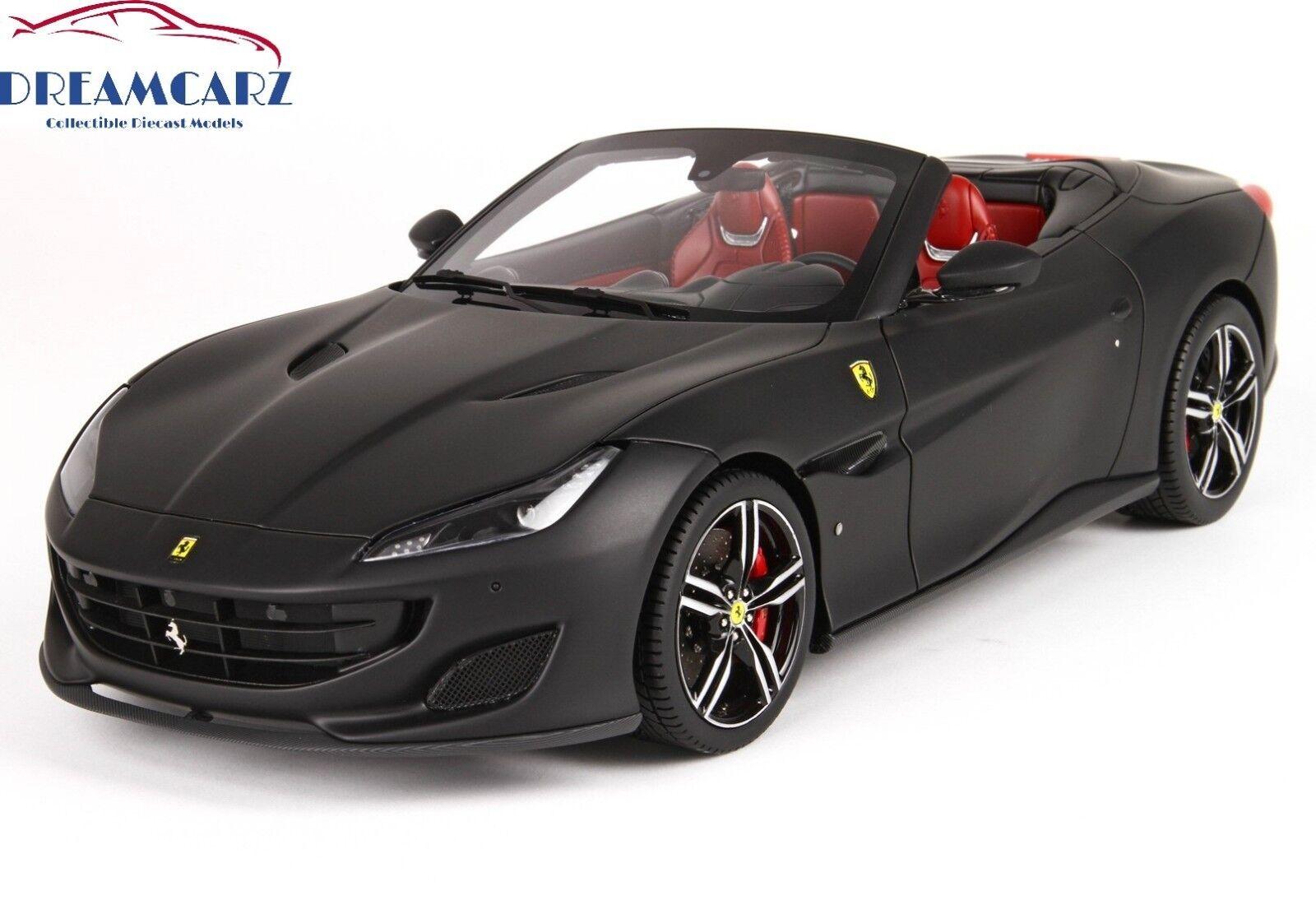 BBR 1 18 Ferrari Portofino Spider P18155MB - Deluxe w Display Case,  1 of 28