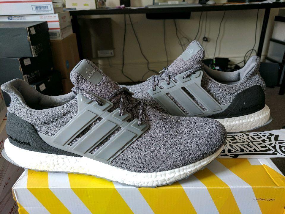 Adidas Ultra Boost 3.0 M LTD ESM Triple Grey Three Black White Gray S82023 NMD