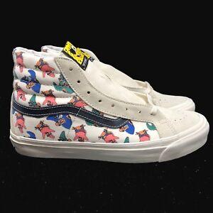 Vans-Vault-Spongebob-Square-Pantalon-Original-SK8-HI-LX-Blanc-Creme-Noir-VN0003T0Q7Z